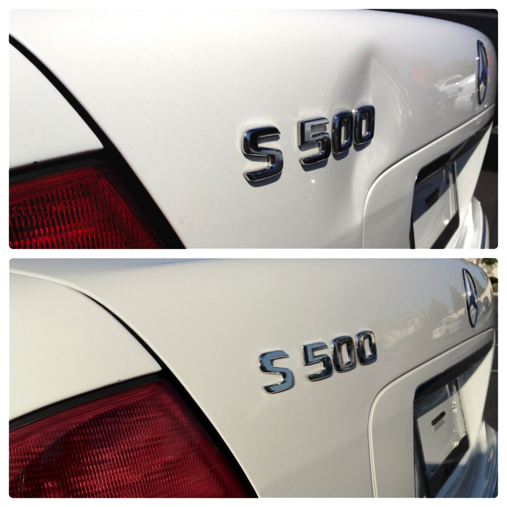paintless dent repair before and after mercedes